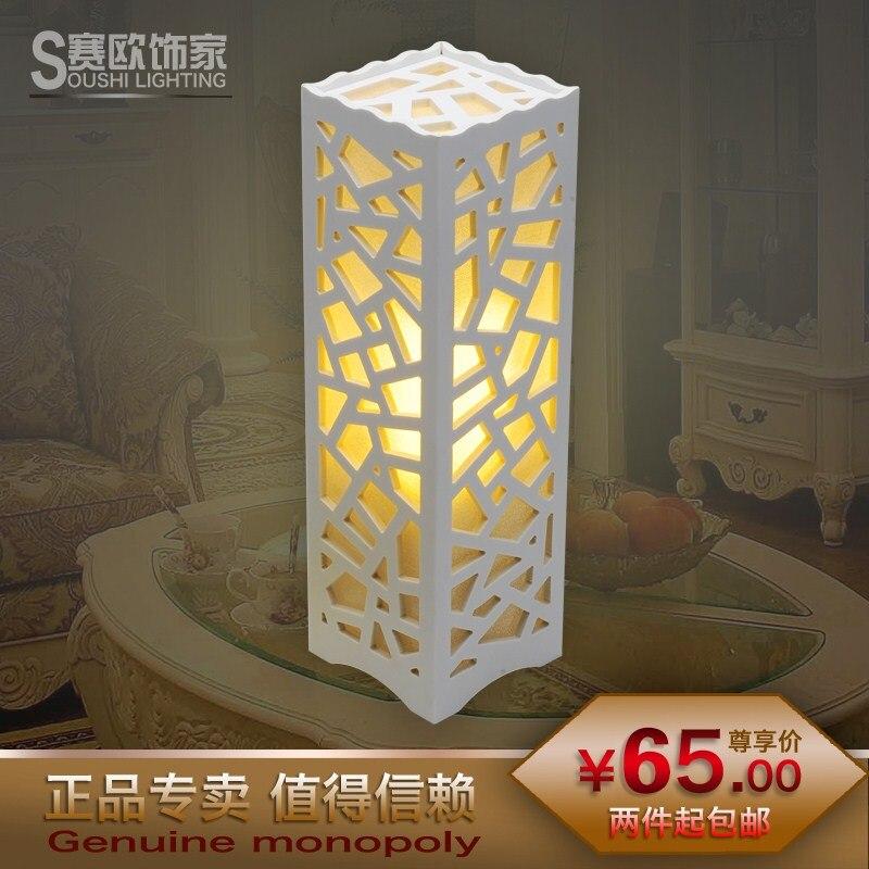 Sail современный краткое деревенский настольная лампа спальня ночники теплый свет ночи модные резные настольная лампа