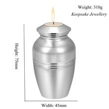 A perda do Amor Da Cremação Urnas para os Direitos Humanos Cinzas Caixão Funeral Urn Memorial Lembrança Aço Inoxidável Castiçal 75mm * 45mm