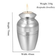 Loss of Love Cremation Urns สำหรับขี้เถ้ามนุษย์ Keepsake สแตนเลสอนุสรณ์ Urn เทียนจัดงานศพ Casket 75 มม. * 45 มม.