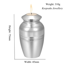 Loss of Love Cremation Urns for Human Ashes Keepsake Stainless Steel Memorial Urn Candlestick Funeral Casket 75mm * 45mm