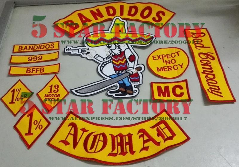 Aliexpress Com Buy 10 Sets Bandidos Nomads Mc Patches
