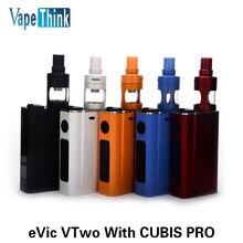 อิเล็กทรอนิกส์บุหรี่อิเล็กทรอนิกส์eVic VTwo 4มิลลิลิตรCubisฉีดน้ำPro 80วัตต์กล่องสมัยVape 5000มิลลิแอมป์ชั่วโมงแบตเตอรี่Vaporizer Evic VTwoชุด