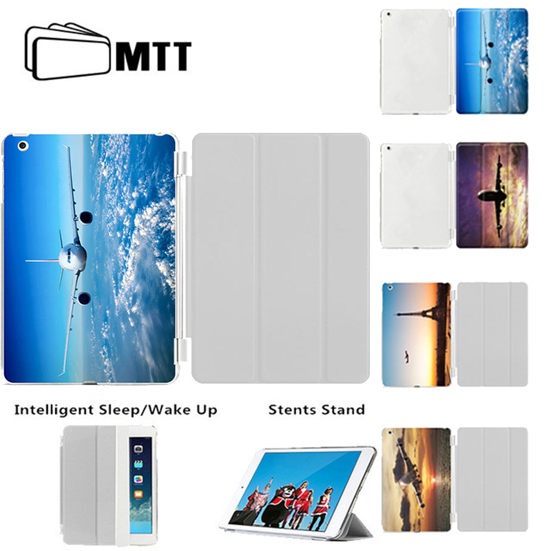 Tablet Case for iPad 9.7 inch New 2107, MTT Printing Aircraft Slim PU Leather Magnetic Stand Smart Cover for iPad Air/Air 2 Case