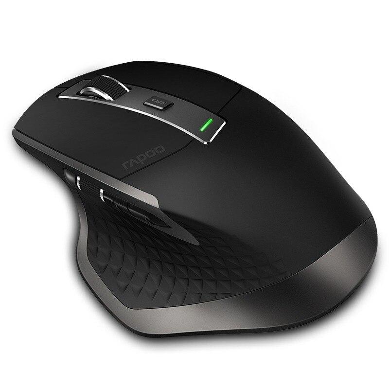 Véritable Rapoo MT750 Rechargeable Multi-mode Sans Fil Souris Commutateur entre Bluetooth 3.0/4.0 et 2.4g pour Quatre connexion de périphériques