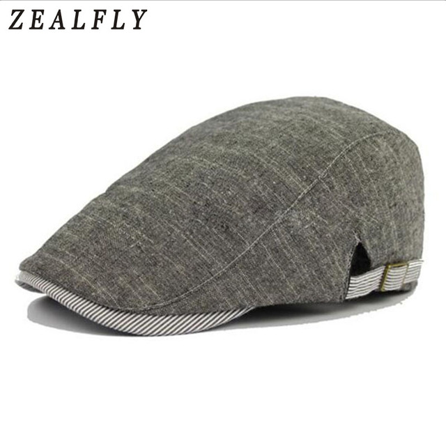 3bd2372ef3be9 Spring Summer Sun Hats for Men Classic Western Newsboy Caps Woman Cotton  Linen Ivy Caps Flat Brim Adjustable Men Beret Cap -in Berets from Men s  Clothing ...