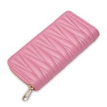 Brand Girls Ladies Coin Money Purse Designer Fashion Sheepskin Fold Wallet Genuine Leather Women Card Travel Standard Wallets