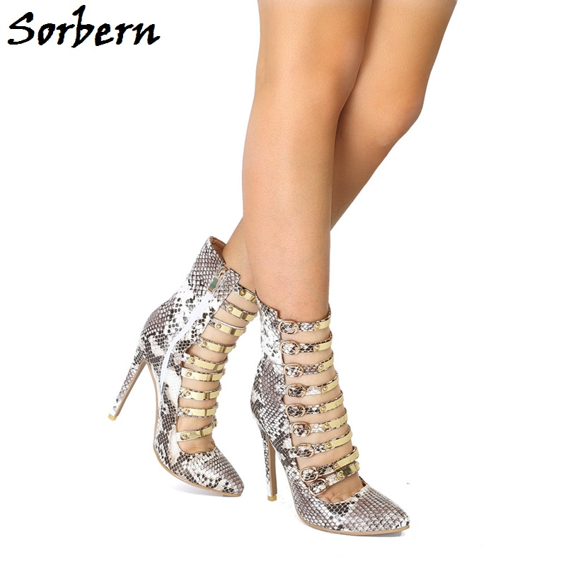 Sorbern Multi Buckle Straps Pumps Spring Feminina Color Custom Made Art Performance Sexy Ankle Ladies Pumps High Heels Size 10Sorbern Multi Buckle Straps Pumps Spring Feminina Color Custom Made Art Performance Sexy Ankle Ladies Pumps High Heels Size 10