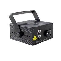 2 Lens 16 Patterns Club Bar RG Laser BLUE LED Stage Lighting DJ Xmas Party 200mw