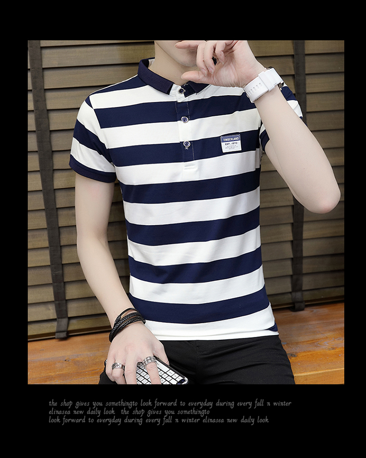 New summer high quality striped short sleeve polo shirt men brand clothing fashion Korean casual slim fit male camisa 9018Z 18