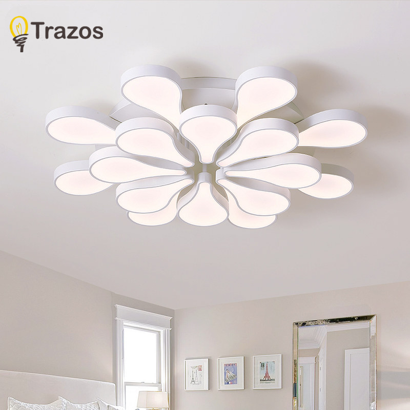 Acrylic Modern White led Ceiling Lights for Living Room Bedroom Kitchen Lighting Ceiling Lamp Home Lighting Light Fixtures modern multicolour crystal ceiling lights for living room luminarias led crystal ceiling lamp fixtures for bedroom e14 lighting