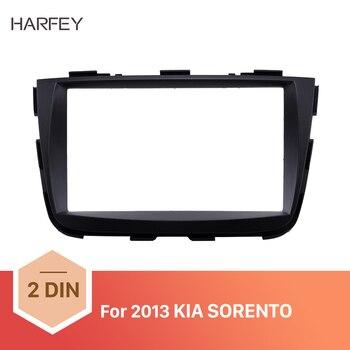 Harfey 2Din Auto Radio Fascia Schwarz für KIA SORENTO 2013 DVD Player Dash Installation Kit Gesicht Platte Panel Trim Lünette mount Kit