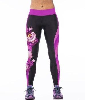 Women Leggings 2021 Cheshire Cat Print Pencil Trousers Pant New Lady Ankle Length Leggings Female Bodycon Leggins 1