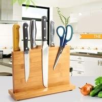 Высокое качество Творческий Магнитная Ножи держатель бамбука непористых чистый здоровье Ножи стойки Кухня бар хранения блок Ножи стенд