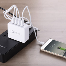 US Plug Charger Quick Charge Technologh 3.0 charger 35W 7A Smart Charger for Phone Charger 4 Ports USB for iphone Samsung Xiaomi