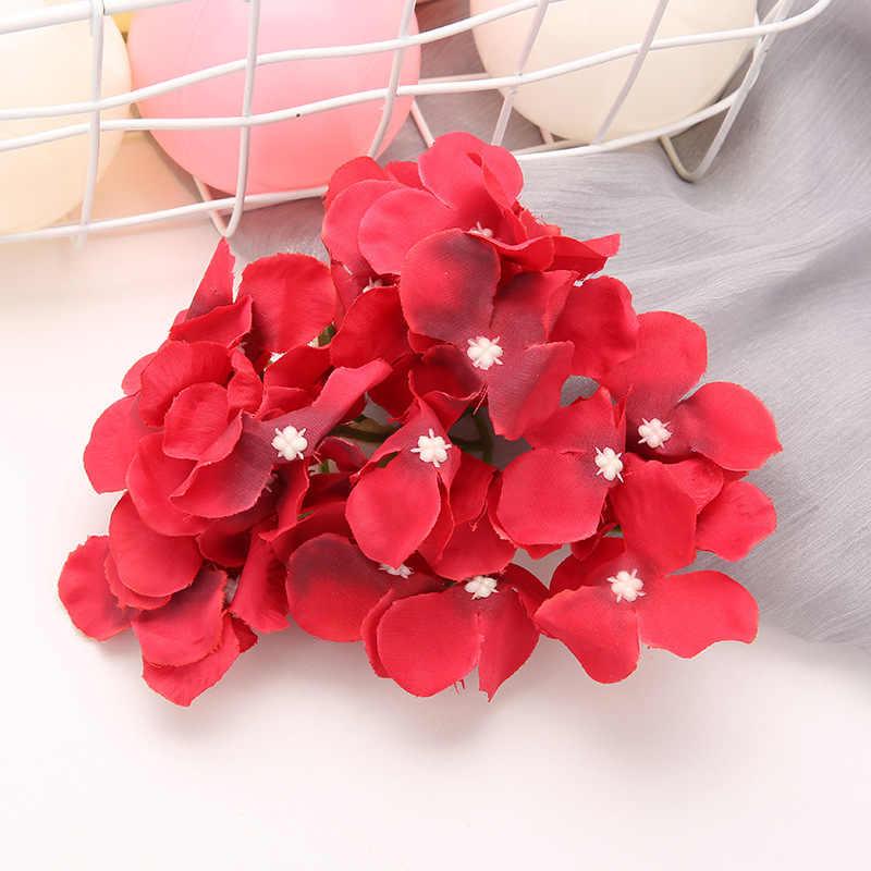 زهرة الحرير ديكور حديقة المنزل الزهور الاصطناعية كوبية حية رؤساء الزفاف الديكور فلوريس Artificiales