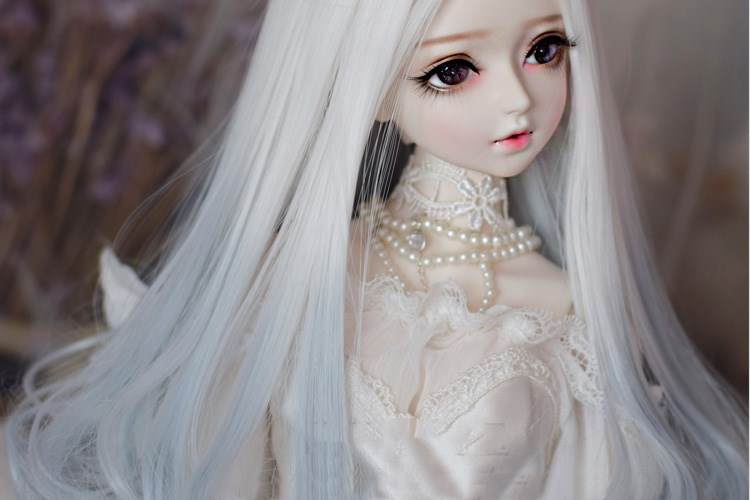 Top quality Gray Doll Wig 1/6 1/4 1/3 BJD Wig Long Wave Hair ...
