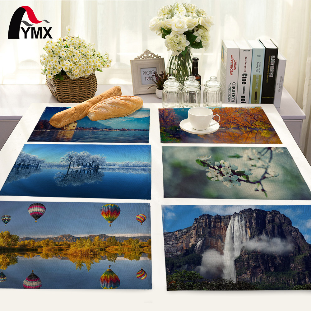 Beautiful Nature Landscape Printing Table Mat Home Decoration ...