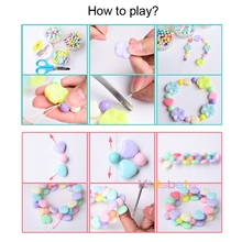 Girls DIY String Beads Necklace Bracelet for Kids – Building Kit Educational Toy