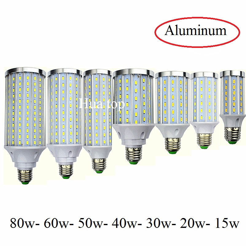 Aluminum 12W 15W 20W 30W 40W 50W 60W 80W Spot Lamp E27 B22 E14 E40 Corn Bulbs 85-265v Led Lighting Light Lampada Cold Warm White