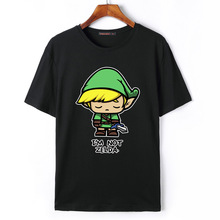 Flevans Cotton Casual Mens T Shirts Top Quality Fashion Short Sleeve Men Tshirt Tops The Legend of Zelda Link Men T-shirt