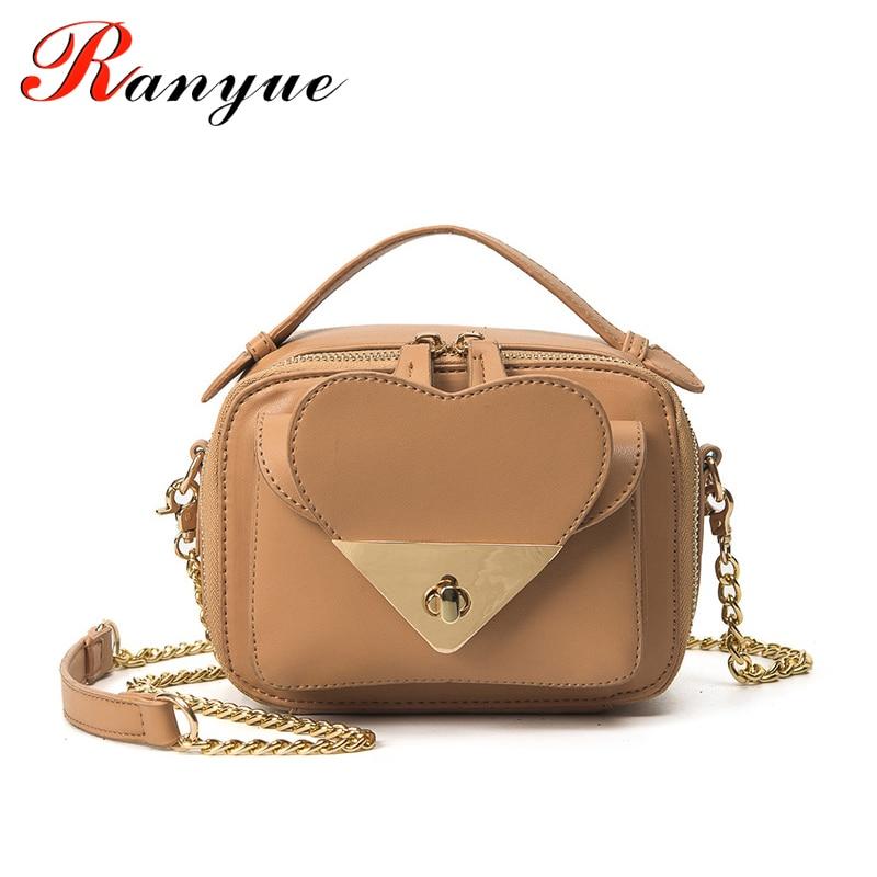 Chains Crossbody Bags For Women Luxury Brand Small 2017 New Spring Designer Handbags High Quality Cute