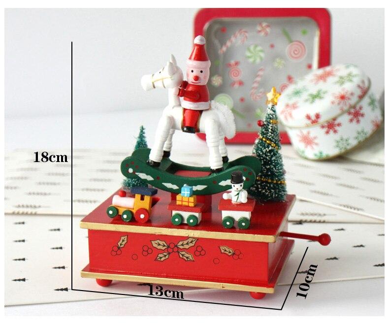 Holz Spieluhr Frohe Weihnachten schaukelpferd Weihnachtsmann ...