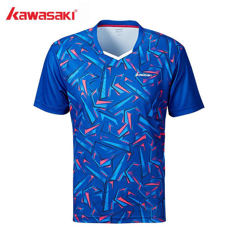 2019 Kawasaki футболка для бадминтона МУЖСКАЯ ТЕННИСНАЯ тренировочная рубашка дышащая быстросохнущая футболка с коротким рукавом для мужчин ST-S1112