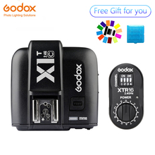 Godox XTR-16 Wireless 2.4G Power Control Flash Receivers + X1T-C TTL Wireless Transmitter for Canon Godox DE300 DE400 SK400 godox 2x xtr 16 wireless 2 4g power control flash receivers x1t n ttl wireless transmitter for nikon camera to godox ad180 ad360