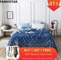 FAMVOTAR Premium Schwere Samt Stepp Bettdecke Set Sofa Couch Ultra Weiche Warme Bettdecke Quilt 5 Einfarbig Geometrische Muster