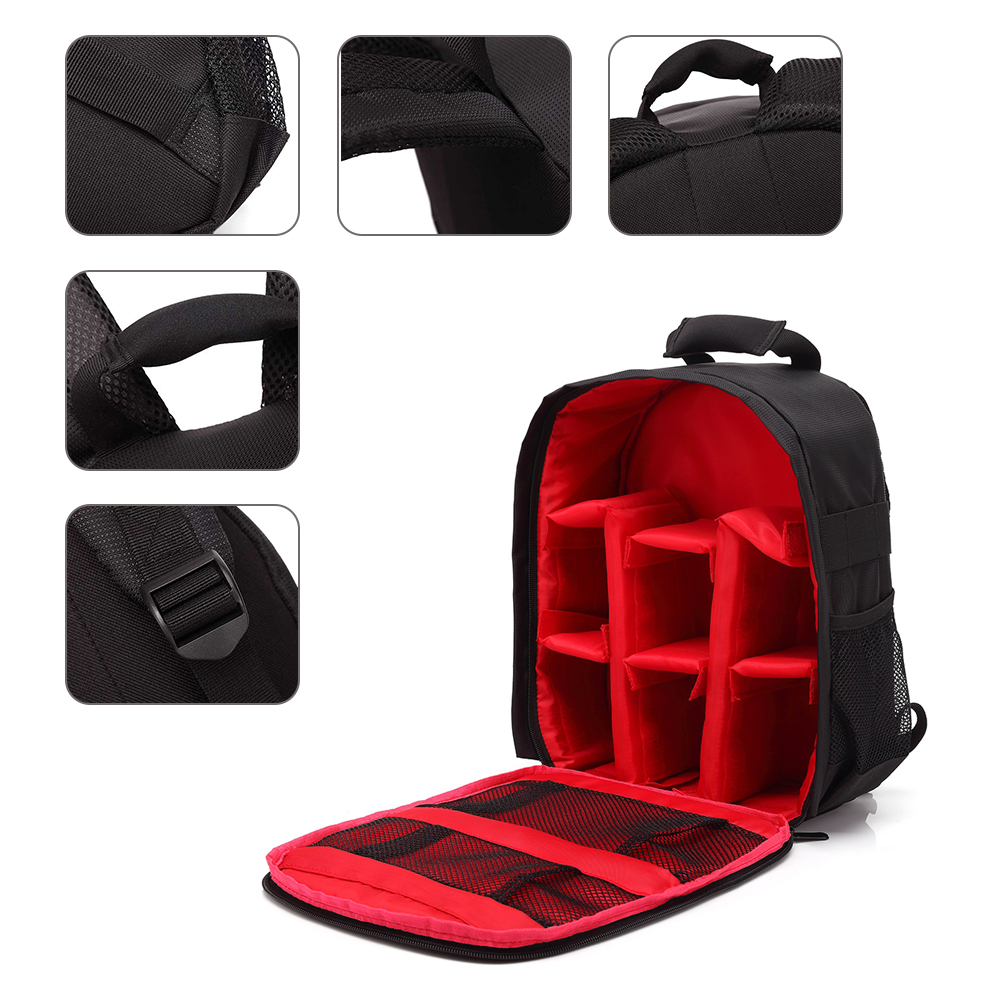 Image 2 - Multi functional Camera Backpack Video Digital DSLR Bag Waterproof Outdoor Camera Photo Bag Case for Nikon/ for Canon/DSLR-in Camera/Video Bags from Consumer Electronics