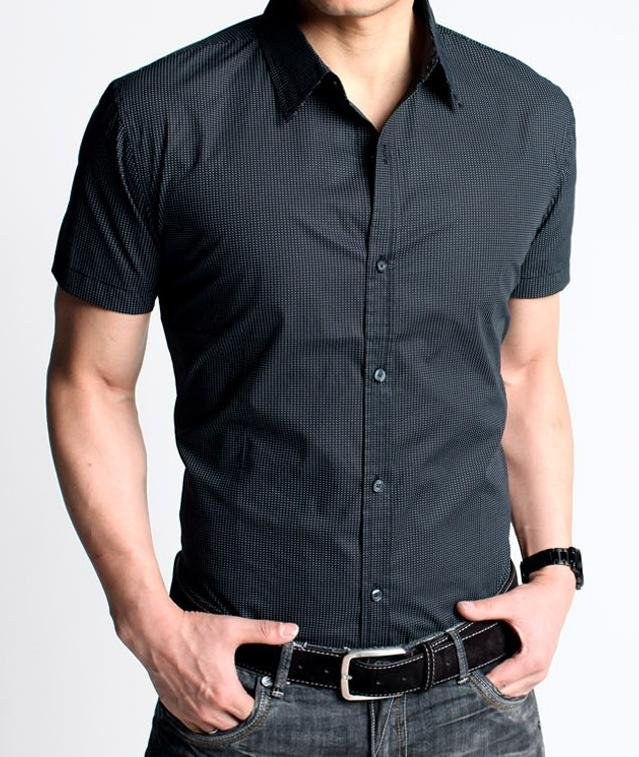 wholesale mens business casual short sleeve shirt mens