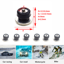 Car Tires Studs Spikes Wheel 12x9mm Snow Chains For Vehicle Truck Motorcycle Winter Universal 100pcs/set