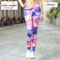 CODY LUNDIN Kadınlar 3D pringting Yoga pantolon Çalışan Pantolon Spor dar pantolon Lady Vücut geliştirme Fitness legging spor