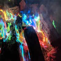 3 teile/los Mystische Feuer Magie Tricks Farbige Flammen Lagerfeuer Sachets Kamin Pit Terrasse Spielzeug Professionelle Magier Pyrotechnik