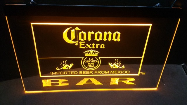 US $10 4 |jb 56 Corona Bar Beer Extra logo beer bar pub club 3d signs LED  Neon Light Sign-in Plaques & Signs from Home & Garden on Aliexpress com |