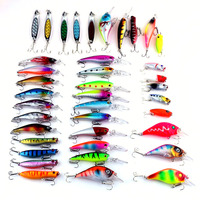 Hot Sale Brand 39pc Lot Life Like Plastic Minnow Sequins Spinner Bait Lure Set Bass Hard