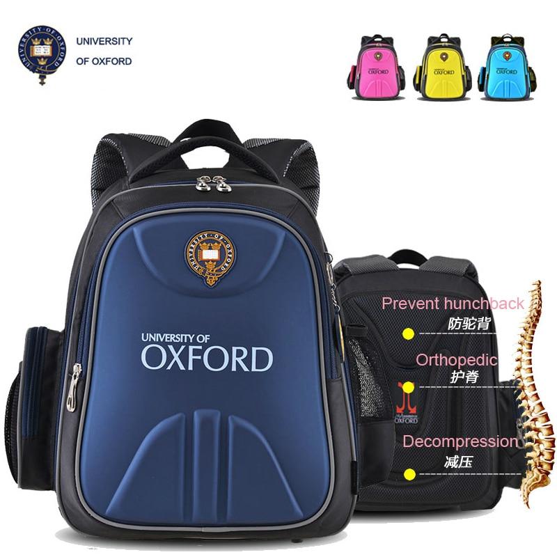 UNIVERSITY OF OXFORD children kids element books orthopedic school bag backpack portfolio rucksack for Boys girls