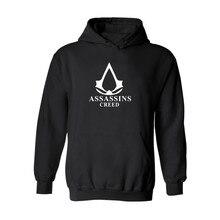 Assassins Creed Толстовки Хлопок O-образным Вырезом Печати Мужчин Хип-Хоп Футболка Плюс Размер 3XL Длинными Рукавами