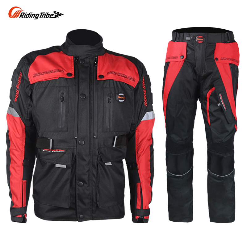 Riding Triber motorcycle racing suit clothes jacket coverall with Cotton Liner Moto Windproof Clothing Protector Gear