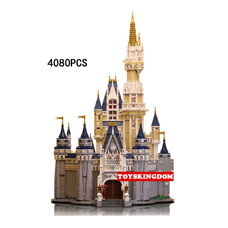 Creator City Funland The castle cartoon animals mouse Duck building block Mickey Donald doll figure bricks 71040 toys collection keys to the castle