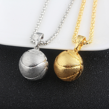 2Style Oval Basketball Necklace 1