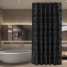 Patrón de europa tira Impermeable cortina de ducha cortina de Baño de poliéster cortinas cortinas para la sala de 12 ganchos de envío gratis