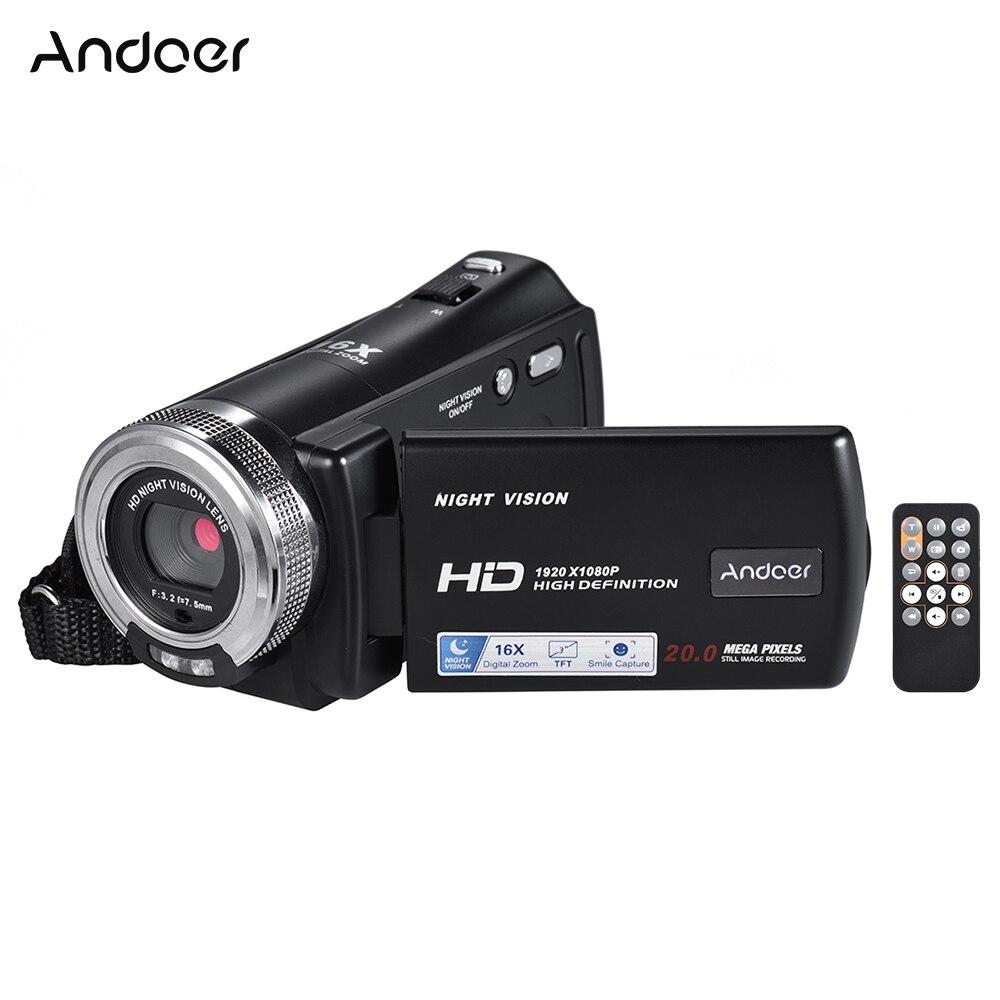 Andoer V12 1080P Video Camera Full HD 16X Digital Zoom Recording Camcorder w 3 0 Inch