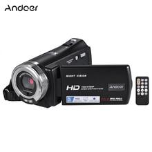 Andoer V12 1080P Videocamera Full HD 16X Zoom Digitale di Registrazione Videocamera w/3.0 Pollici Schermo LCD Ruotabile visione Notturna di sostegno