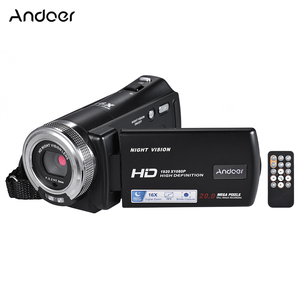 Image 1 - Andoer V12 1080P kamera wideo Full HD 16X kamera z zoomem cyfrowym w/3.0 Cal obrotowa podpórka ekranu lcd Night Vision