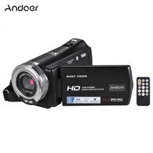 Andoer كاميرا فيديو V12 1080P ، كاميرا فيديو عالية الدقة مع تقريب رقمي 16X ، مع شاشة LCD قابلة للدوران 3.0 بوصة ، دعم الرؤية الليلية