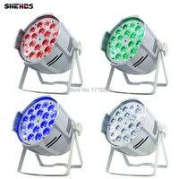 6pcs Lot Aluminum Alloy LED Par 18x12W RGBW 4in1 Quad LED Par Can Par64 Led Spotlight