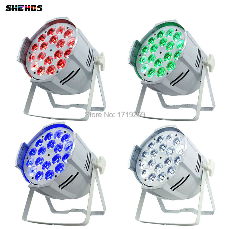 6pcs/lot Aluminum alloy LED Par 18x12W RGBW 4in1 Quad LED Par Can Par64 led spotlight dj projector wash lighting stage light цена