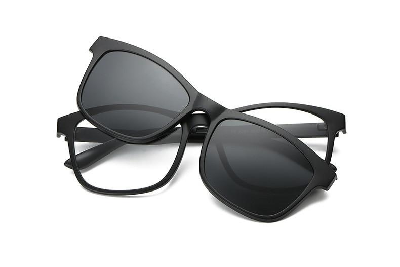 634a817d2f6 Eyeglasses Female Eyeglass Magnetic Clip Transparent Glasses For ...