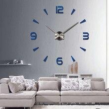 2016 New Vintage Wall Clock Modern Design Large Diy Acrylic Clocks Horloge Murale Quartz Watch 3d Stickers Brief Living Room